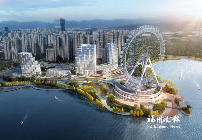 """福州新城市生态绿轴加速成型 明年6月看""""一轮摩天映湖水"""""""