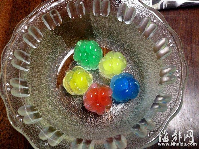 """宝宝 福州/浸泡7小时后,""""水晶宝宝""""胀成荔枝大小,摸起来很有弹性..."""