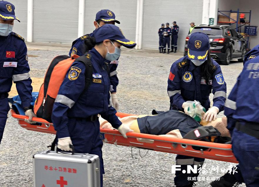 福州红十字曙光救援总队成立开展应急救援演练 福州 东南网